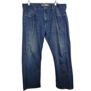 Levis 569 Loose Straight Denim Jeans Dark Wash